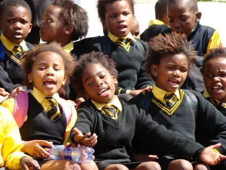 Zingende schoolklas Kaapstad