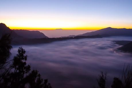 Zonsopkomst bij de Bromo vulkaan Java Indonesie