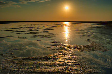 Zonsondergang straks Maasvlakte