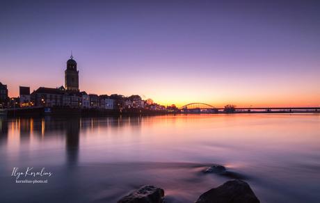 Deventer at sunrise.