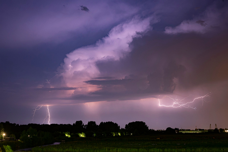 Onweer in Waddinxveen