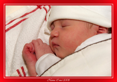 Hanne is geboren