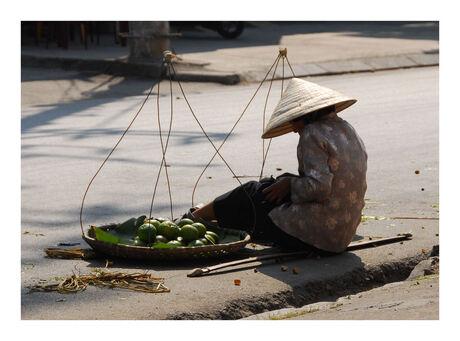 vrouw op straat