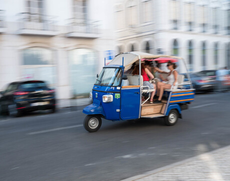 Tuc tuc in Lissabon