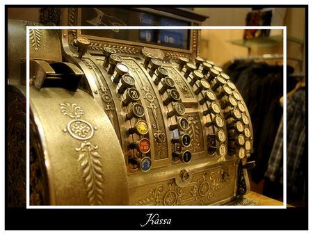 Kassa - De kassa op mijn werk. Uit 1885 of daaromtrent, we gebruiken 'm nog elke dag. - foto door spitsoor op 15-12-2009 - deze foto bevat: oud, geld, winkel, kassa