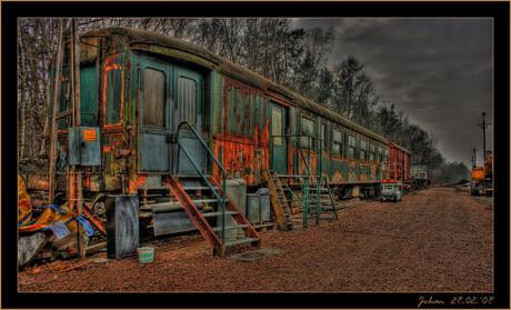 Roestige trein