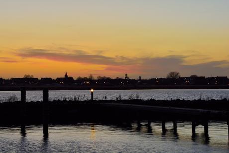 Zicht over het Eemmeer naar Spakenburg
