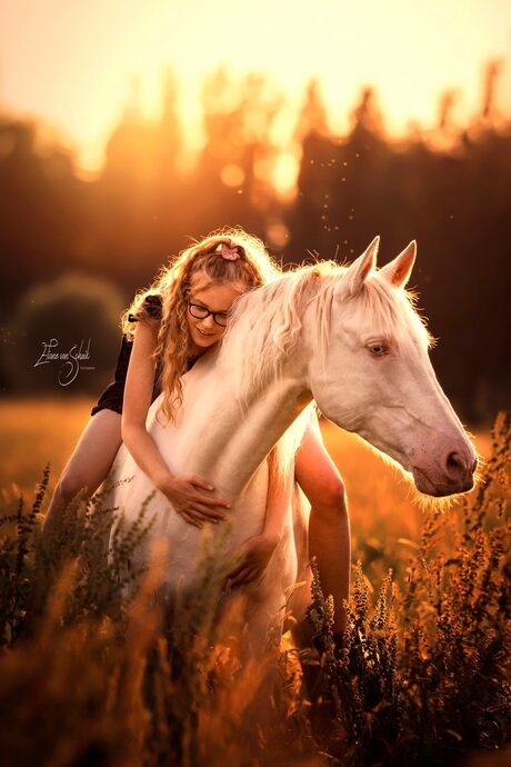 Romantische paardenfotografie