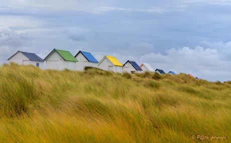 witte huisjes met gekleurde daken