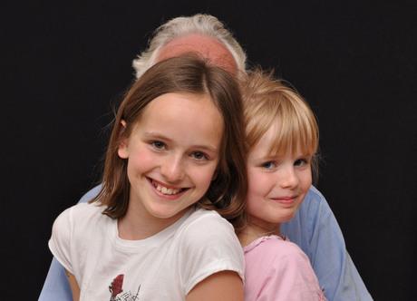Wij willen samen met opa op de foto