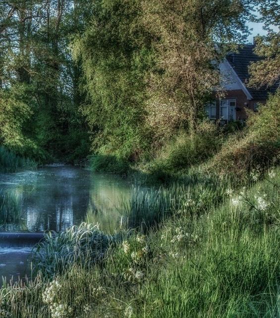 Een sprookje.... - - - foto door Potzerio op 04-03-2021 - deze foto bevat: water, natuur, licht, spiegeling, landschap, drenthe, bomen, meer, brug, rivier, polder, bronneger
