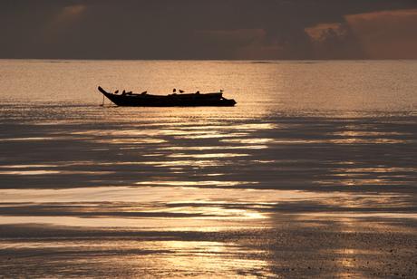 Zonsopkomst Kenia indische oceaan