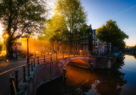 Morning glow in Amsterdam