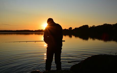 De eenzame visser.