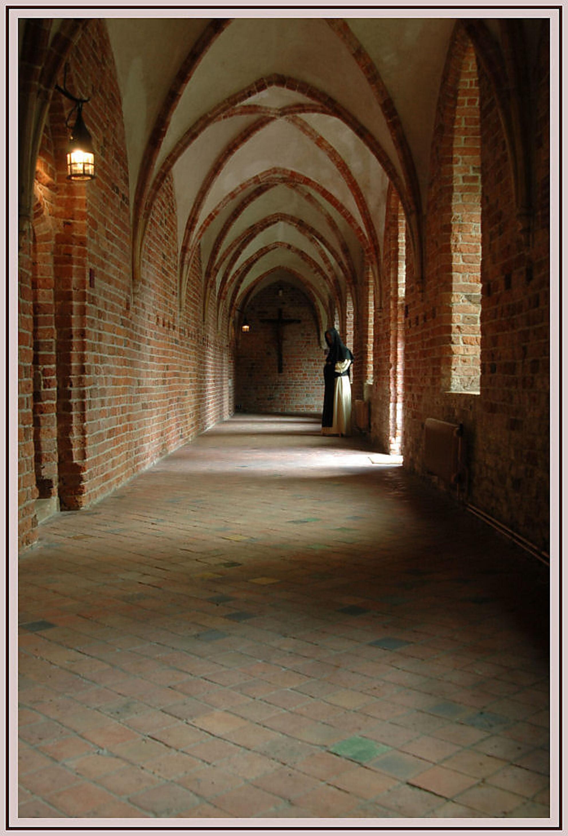 Het klooster in Ter Apel - Ik ben gistermiddag maar weer eens in het klooster geweest om de gangen en de lichtinvallen te fotograferen, het viel mij enigszins tegen om daar een - foto door Thomas_zoom op 26-04-2007 - deze foto bevat: klooster, ter, apel