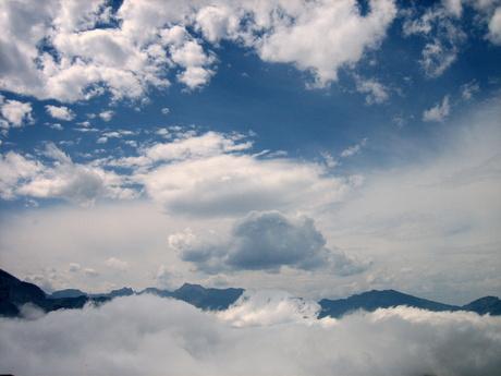 in de wolken....