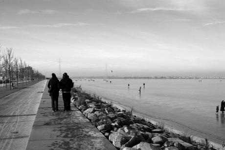 Strenge winter in Holland