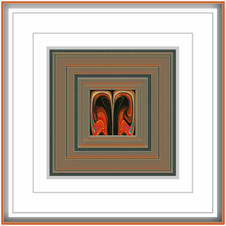 Creatief met kleuren - We hebben ons weer creatief kunnen uitleven - foto door jos1953 op 15-04-2021 - locatie: Hasselt, België - deze foto bevat: fotolijst, product, rechthoek, textiel, oranje, kunst, lettertype, hout, schilderen, symmetrie