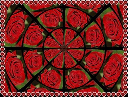 Valentijn's groet voor allen.......... - Heb wat geexperimenteerd met een bewerking van een roos.  Wacht af hoe het in de smaak valt, en het is wel eentje goed voor de Valentijnen onder on - foto door jenny42 op 14-02-2009 - deze foto bevat: roos, rozen, valentijn, bewerking, hartjes, jenny42-, valentijnsdag-