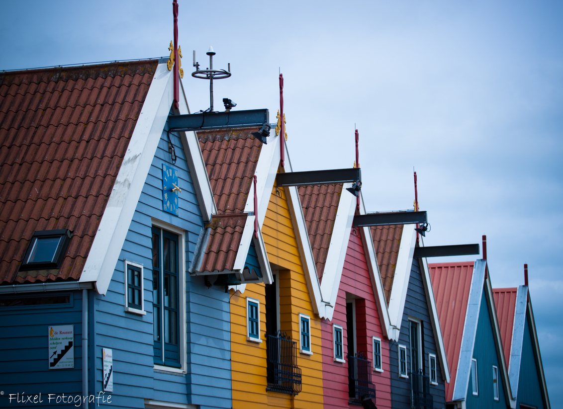 Gekleurde huisjes Zoutkamp - Gekleurde huisjes Zoutkamp - foto door naresh op 15-07-2013 - deze foto bevat: kleuren, kleur, huis, huisjes, zoutkamp, palingrokerij, reithdiepkade