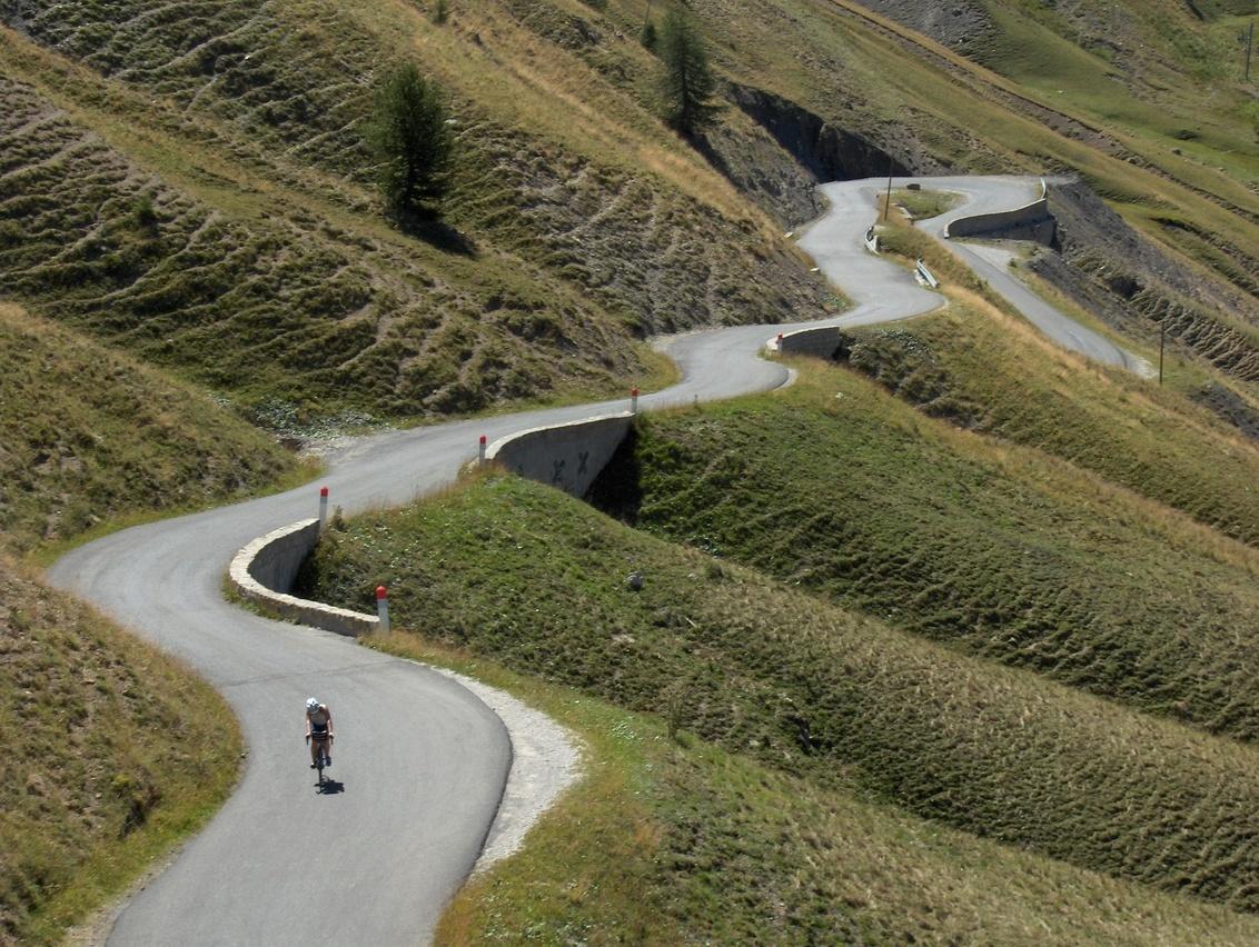 zwoegen in de alpen - - - foto door kbaijens op 17-10-2007 - deze foto bevat: fiets, vakantie, alp