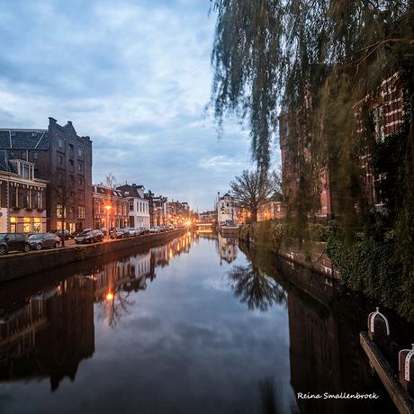 Vanaf Musembrug Westerkade Groningen