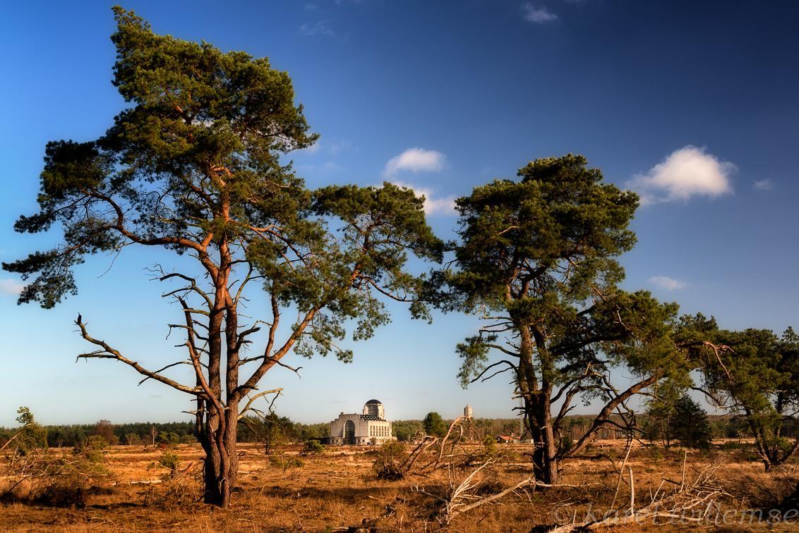 kootwijkerzand - radio kootwijk - foto door karelwillemse op 09-02-2014 - deze foto bevat: natuur, architectuur, landschap, kootwijkerzand, polarisatiefilter, Radio Kootwijk