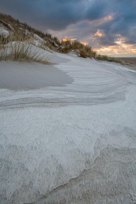 Sneeuw met zand