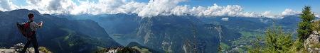 panoramma Jennergipfel - Deze panorama is met de smartphone gemaakt.  Groet Roland - foto door RolandOudmaijer_zoom op 12-10-2015 - deze foto bevat: lucht, zon, uitzicht, panorama, natuur, vakantie, reizen, landschap, zomer, bergen, beieren, jenner, reisfotografie, europa, berchtesgaden, konigssee, jennergipfel, duitslandf