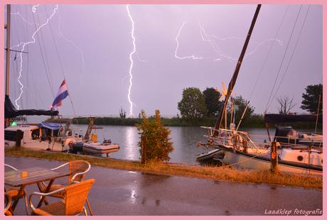 Onweer in Edam