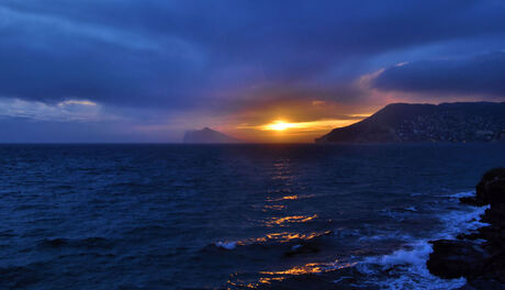 Zonsondergang in Calpe
