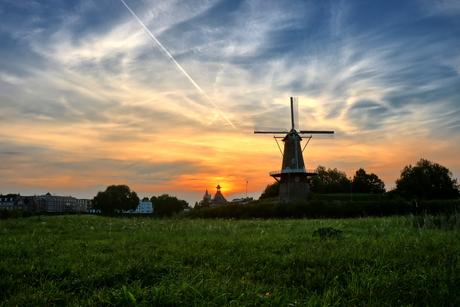 Zonsondergang in Gorinchem
