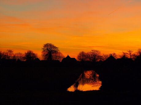 Kielwindeweer By Sunset