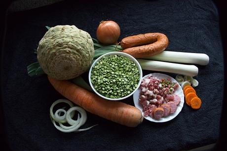 groenten voor de erwtensoep.