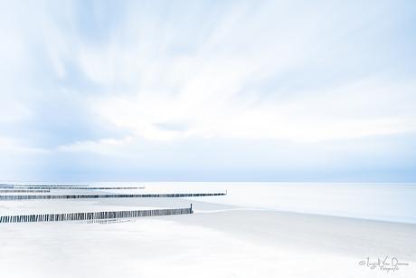 Groynes on the beach