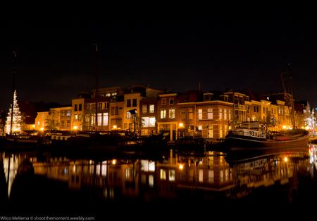 Nachtelijk Leiden - Het Leidse Galgewater - foto door wilcofm op 08-09-2014