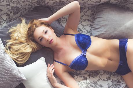Blue lingerie