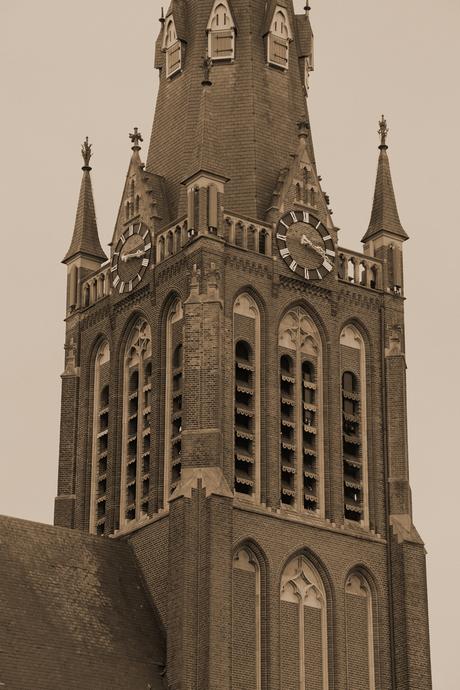 kerk sepia