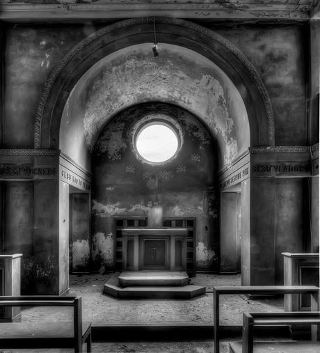 lichtpunt in de kerk