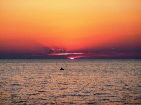 Zonsondergang Livorno Italie