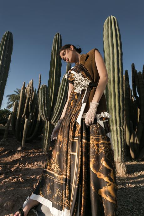 Fashionshoot op cactusveld