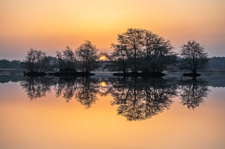Een betoverende zonsopkomst in November