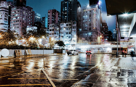 A rainy evening .