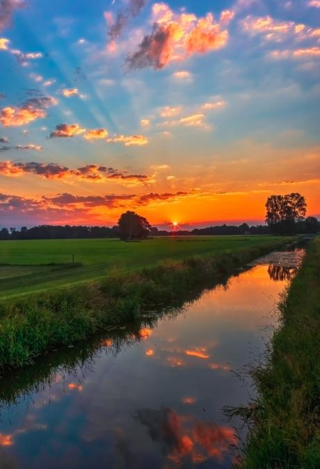 Mooie zonsopkomst