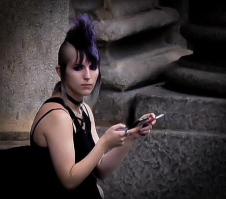 Milaan Brera Punkmeisje
