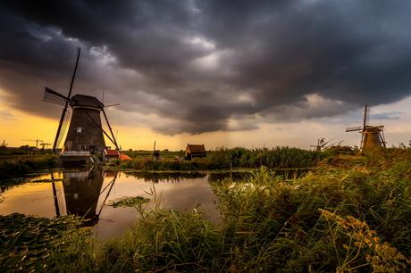 Sunset Kinderdijk 03