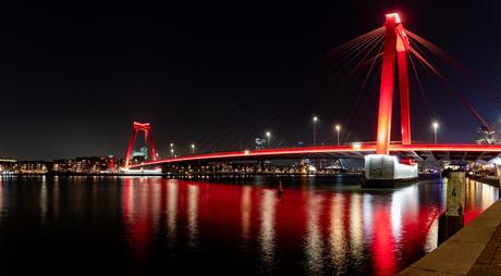 Willemsbrug Rotterdam panorama