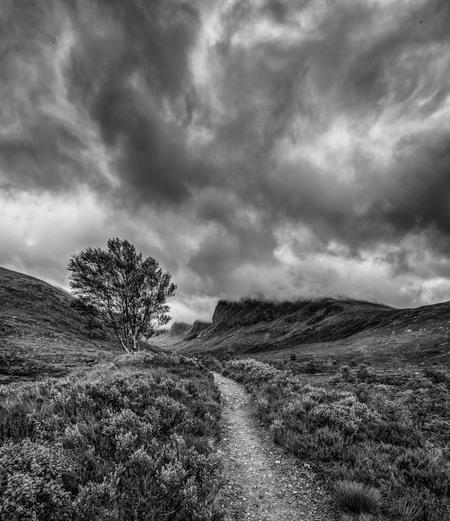 Glen Nevis Schotland - Een gemiddelde schotse dag - foto door willemku_zoom op 29-10-2019 - deze foto bevat: wolken, natuur, bomen, bergen