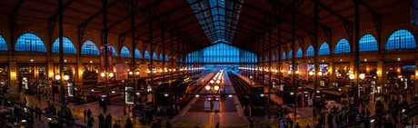 Panorama van het station in Parijs.