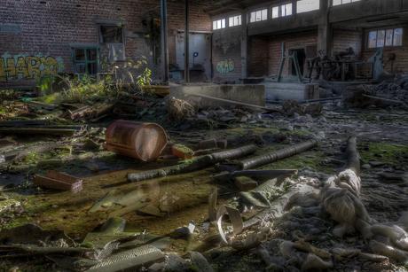 Verlaten baksteenbakkerij